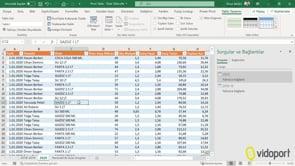 3 Ayrı sayfadaki ortak verilerden Pivot Tablo Oluşturmak