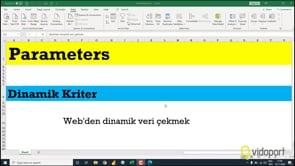 Parameters ile webden Veri Çekmek