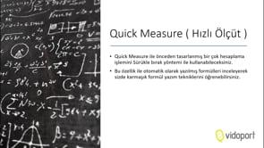 Quick Measure Kullanmak