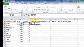 Excel'de işlem yapma yöntemleri