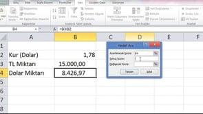 Excel'de Hedef Ara Özelliği kullanma