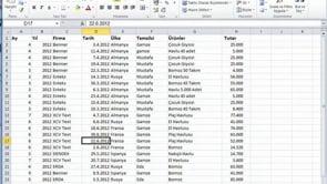 Excel'de Tablolar'dan Özet tablo nasıl oluşturulur?