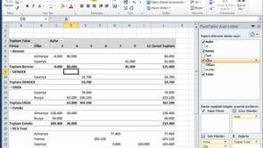 Excel'de Özet Tablolardaki Verileri Yenilemek
