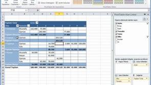 Excel'de Özet Tablo tasarımları ile çalışmak