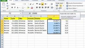Excel'de sayı grubu simgelerini tanımak