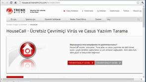 HouseCall İle Virüs Taraması Yapmak