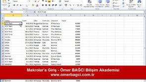 Excel'de makrolar'a giriş