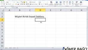 Excel'e giriş, Excel'e ilk adım