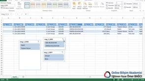 SQL bilgilerini Dilimleyiciler ile düzenlemek