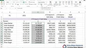 Giriş sekmesindeki sayı grubu kullanımı
