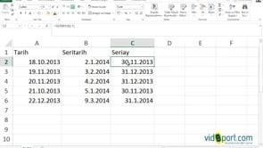 Excel'de SERİTARİH ve SERİAY işlevi ile Vade ve Ödeme günlerini takip etmek