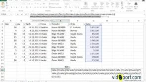 Topla.Çarpım İşlevi, F9 tuşu, Veri doğrulamayı nasıl kullanırsınız?