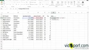 Excel'de Çalışma süresini gün, ay, yıl olarak hesaplamak