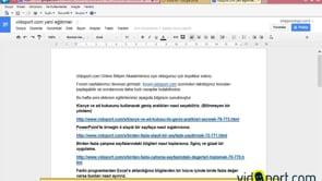 Google Dokumanları PDF olarak kaydetmek