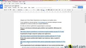 Google Dokumanları E-Posta Olarak Göndermek