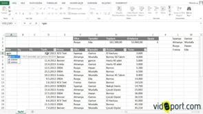 Excel'de girilen tarihin GÜN, AY ve YIL değerlerini bulmak