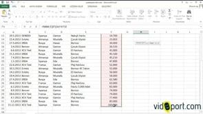 RANK.EŞİT fonksiyonu ile Excel'de rakamları sıralamak