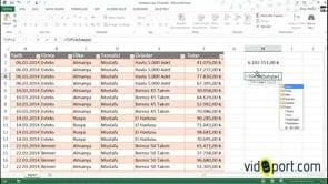 Excel'de aralıkları tabloya döndürmek ve tabloları kullanmak