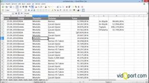 Calc programında verilerinizi sıralamak