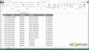 Excel'de Dosya Özellikleri İle Çalışmak