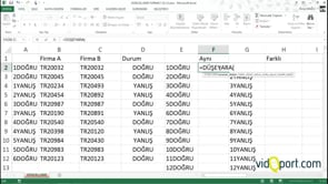 Excel Düşeyara ile iki listede aynı ve ayrı değerleri nasıl buluruz?