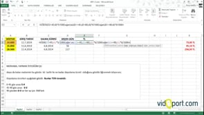 Depo'daki süreye göre Excel'de ücret hesabı yapmak