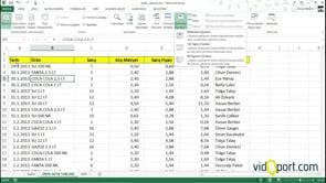 Excel'de çalışma sayfalarında bölmeleri dondurmak