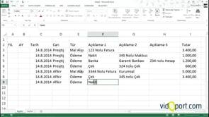 Excel'de firmaların hesaplarını takip etmek