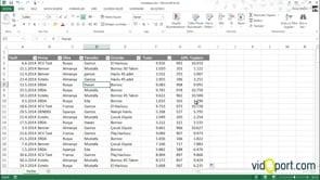Excel'de tabloları nasıl seçeriz?