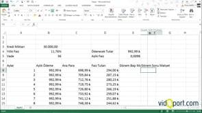 Kredi hesaplamalarında dönem sonu ve dönem başı rakamları bulmak