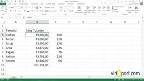 Excel'de bilinmeyen klavye yöntemleri ile işlemler yapmak