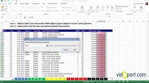 Excel Uygulama Soruları-1. soru ve çözümü
