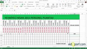 Excel'de Eğersay ile yevmiyelerin toplam hesabı nasıl bulunur?
