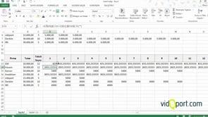Excel'de taksit ve aylık taksit listesi nasıl oluşturursunuz -1. Adım