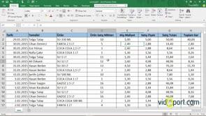 Excel'de Belge İçinde Hareket Etmek