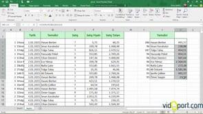 Excel'de satış temsilcilerinin yıl içinde yaptıkları son satış değerini bulmak