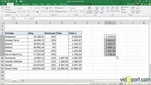 Excel'de Dizi Formülleri Nasıl Kullanılır.