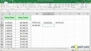 Excel'de Rakamların %10 fazlasını bulmak