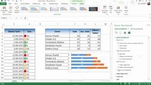 Excel'de ödeme tutarları ve geciken vade tutarlarını grafiğe nasıl yansıtırsınız?