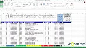 Excel Uygulama Soruları-5. soru ve çözümü