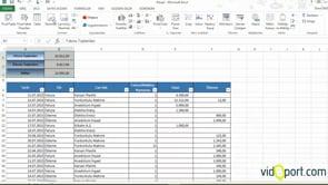 Excel'de Cari fatura ve ödemelerin Dilimleyiciler ile takibi