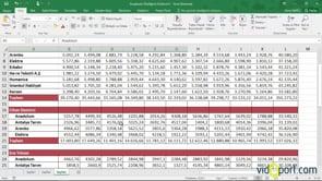 Excel'de listelerin daha net okunmasını sağlamak