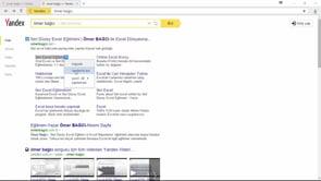 Yandex browser üzerinde hesaplama yapmak
