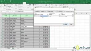 Excel'de Birden Fazla sütuna Göre Sıralama Yapmak