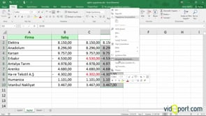 Excel'de negatif değerlerin gösterim şekilleri
