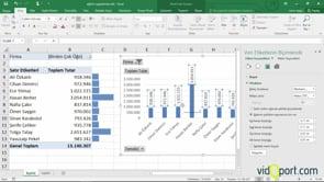 Excel Veri çubukları, grafikler ile raporlama yapmak