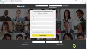 Linkedin'e üye olmak ve kullanmaya başlamak