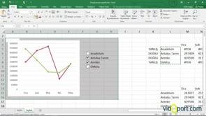 Onay kutularına bağlı grafikler yaratmak