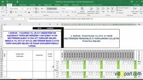 Excel'de Çalışma takviminde Pazar günlerini işaretlemek