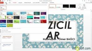 PowerPoint Slaytlarınıza temalar uygulamak